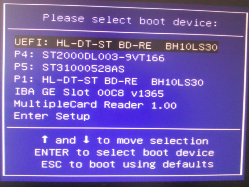 EFI screenshot
